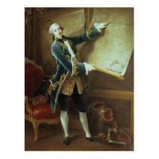 The Comte de Vaudreuil, 1758 Postcard