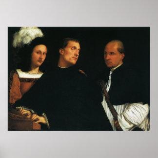 The Concert by Titian Vintage Renaissance Fine Art Poster