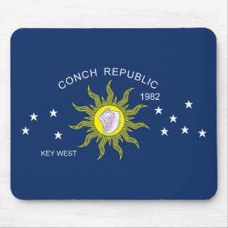 The Conch Republic Flag Mouse Pad