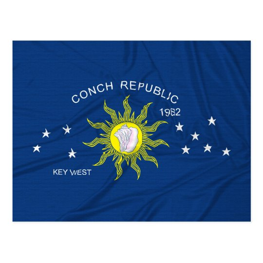 The Conch Republic Flag Postcard