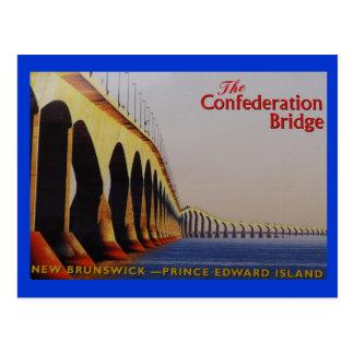 THE CONFEDERATION BRIDGE P-E-I CANADA POSTCARD