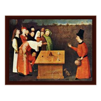 The Conjurer. By Hieronymus Bosch Postcard