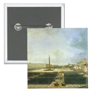 The Consecration of the Alexander Column 2 Inch Square Button