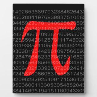 The Constant Pi Plaque