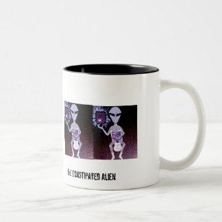 The Constipated Alien Two-Tone Coffee Mug
