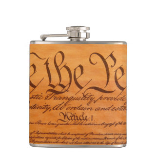 The Constitution of the United States of America Hip Flask