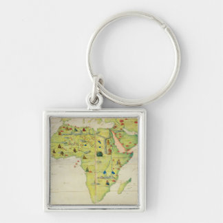 The Continent of Africa Keychain