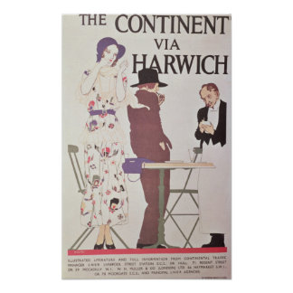 The Continent Via Harwich Poster