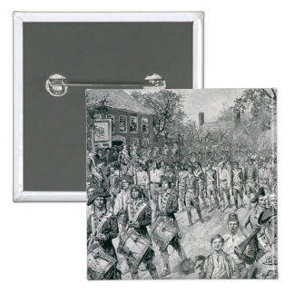 The Continental Army Marching Down the Old 2 Inch Square Button