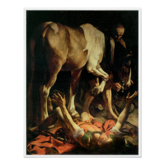 The Conversion of St. Paul, Caravaggio Poster