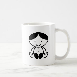 The Cool Baby With Middle Hairstyle Coffee Mug