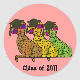 The Cool Cat Grads Stickers