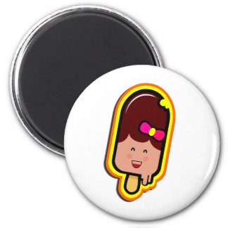 The Cool Sweet Stuff - cute girl ice cream 2 Inch Round Magnet