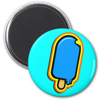 The Cool Sweet Stuff - wonderful color ice cream 2 Inch Round Magnet