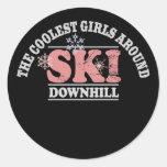 The Coolest Girls Around Ski Downhill Sticker