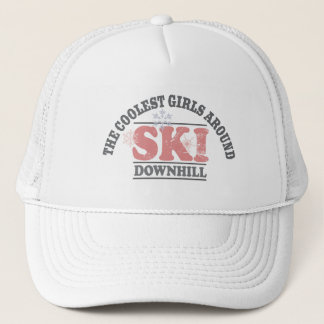 The Coolest Girls Around Ski Downhill Trucker Hat