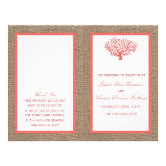 The Coral On Burlap Boho Beach Wedding Collection Custom Flyer