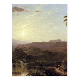 The Cordilleras Sunrise by Frederick Edwin Church Postcard