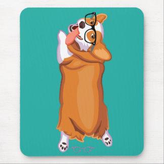 The Corgi Sploot Mouse Pad