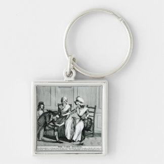 The Corn Doctor, 1793 Silver-Colored Square Keychain