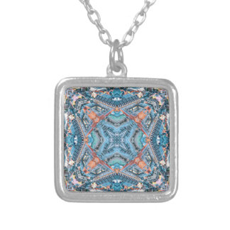 The Corner of Octahedron City Silver Plated Necklace