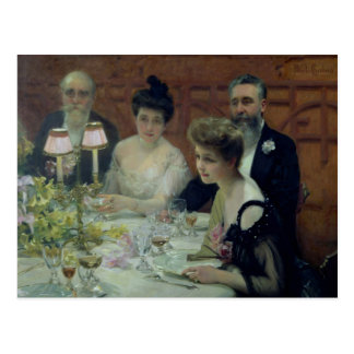 The Corner of the Table, 1904 Postcard