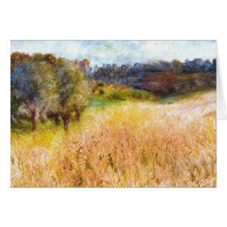 The Cornfield Pierre Auguste Renoir 1879 Card