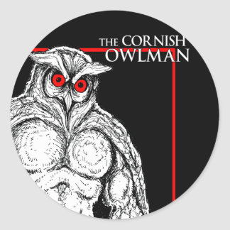 The Cornish Owlman Classic Round Sticker