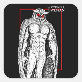 The Cornish Owlman Square Sticker