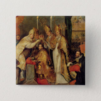 The Coronation of Charles V  Holy Roman Emperor 2 Inch Square Button