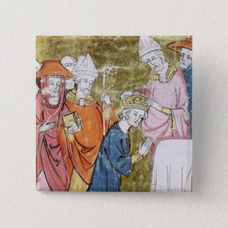 The Coronation of Emperor Charlemagne 2 Inch Square Button