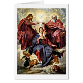 The Coronation Of Mary By Diego Velazquez Card