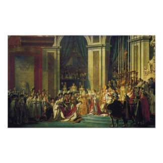 The Coronation of Napoleon Poster