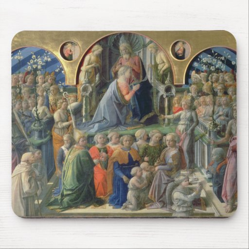The Coronation of the Virgin, 1441-7 (tempera on p Mouse Pads