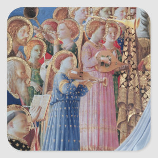 The Coronation of the virgin Square Sticker