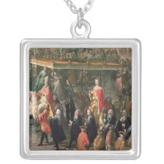 The coronation procession of Joseph II Silver Plated Necklace