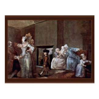 The Corset,  By Hogarth William (Best Quality) Postcard