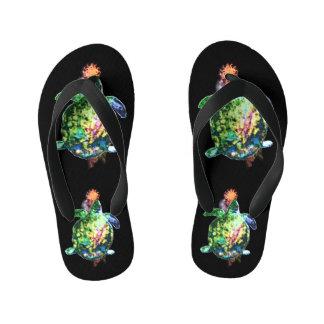 The Cosmic Color Bringer Kid's Flip Flops