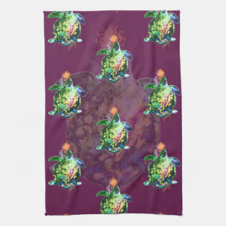 The Cosmic Color Bringer Kitchen Towel