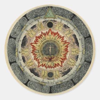 The Cosmic Rose Round Sticker