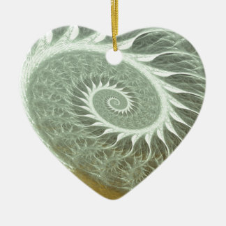 The Cosmic Spiral - Sacred Geometry Golden Spiral Ceramic Ornament