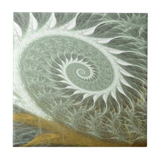 The Cosmic Spiral - Sacred Geometry Golden Spiral Ceramic Tile