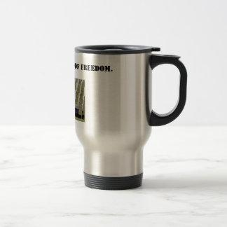 the cost of freedom travel mug