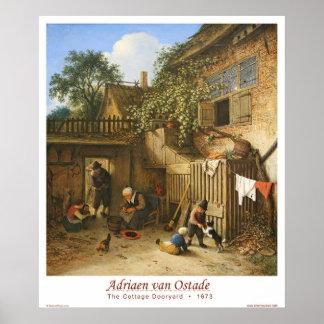 The Cottage Dooryard Poster