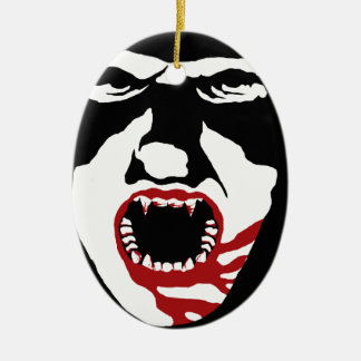 THE COUNT CERAMIC OVAL ORNAMENT