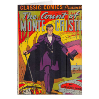The Count of Monty Cristo Comic Greeting Card