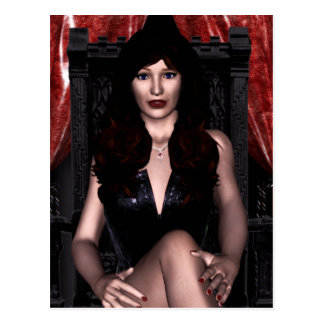 The Countess Vampire Gothic Postcard