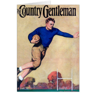 The Country Gentleman - Rugby Greeting Card
