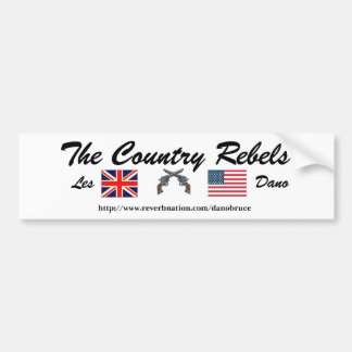 The Country Rebels Patriotic Bumper sticker