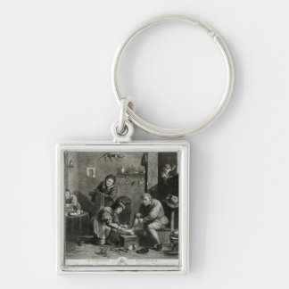 The Country Surgeon Silver-Colored Square Keychain